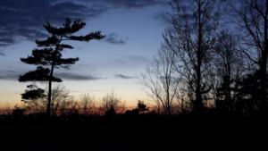 Sunset from Hog's Back Falls